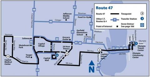 Map of Route 47